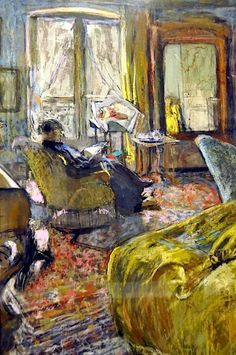 Interior with Woman Reading ~ Édouard Vuillard ~ (French: 1868-1940)