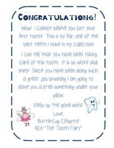 Stickers and Stars:: The Tooth Fairy Came! not teacher related - but a free printable! Tooth Fairy Names, Letter From Tooth Fairy, Google Drive, Lost First Tooth, Tooth Fairy Receipt, Tooth Fairy Certificate, Cute Tooth, Fairy Coloring Pages, Tooth Fairy Pillow