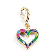 Heart Charm in Emerald Paisley, $12 I Vera Bradley
