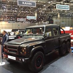 Meet the #showstopper  Come see the @flyinghuntsman 6x6 Crew Cab pictured here at the #GenevaMotorshow.  ________________________________________#kahndesign #gims #fitness #4x4 #chelseatruckcompany #gims #landrover #landroverdefender #defender #g6x6 #g55 #g63 #amg #luxury #knightsbridge #expedition #bespoke #landroverexperience #afzalkahn  #hulk #qatar #fashion @ChelseaTruckco #Gwagon #classic #London #russia #rangerover #6x6 #bespoke #armour uae @landrover_nation…