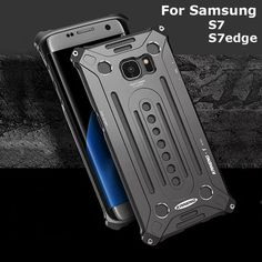 Aluminum Metal Combo Tough Rugged Armor Thor case cover For Samsung GALAXY S7 edge+ Free Tempered Glass