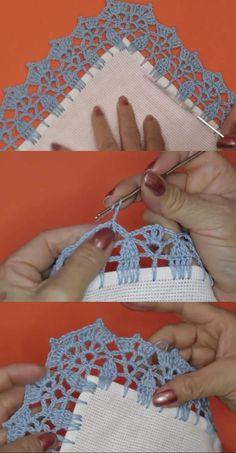 Crochet Border Patterns, Crochet Projects, Crochet Bikini, Crochet Earrings, Link, Crochet Hood, Rag Rugs, Crochet Cord, Crochet Edging Patterns