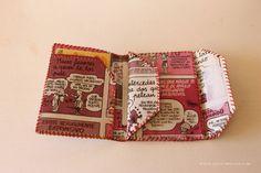 cartera de papel comic