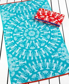 Echo Lobster Roll Beach Towel!  So cute!  Available at the Florida Angela Moore Boutiques on #WorthAvenue and in Manalapan.