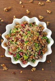 Salade de quinoa et canneberges confites Noix