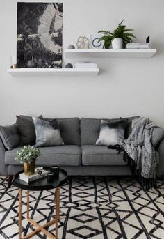 Simple Living Room, Living Room Grey, Living Room Decor, Living Rooms, Living Room Remodel, Cheap Home Decor, House Colors, Living Room Designs, Home Furniture