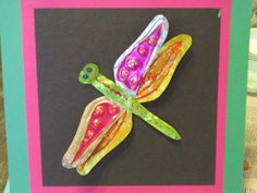 4th grade dragonfly tin art; lesson by art teacher: Susan Joe