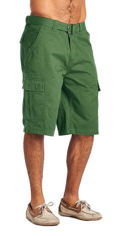 d90f91e0f5 Mens Fashion 6 Pocket Cargo Shorts-Green Olive Clothing