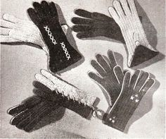 Vintage 1940s crochet gloves pattern..time to start making warm mittens and hats for yourself or as gifts for the festive season......
