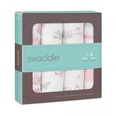 Aden + Anais Classic Swaddle - 4 Pack - For the Birds -The muslin swaddle blanket that started it all, our aden + anais® original, award-winning single-layer 100% cotton muslin swaddles are the ultimate in quality, breathability and versatility. -BabyCubby.com