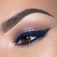 Get the look using Motives Lustrafy High-Definition Mascara in Midnight Blue