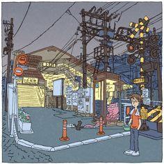 Tokyo 100 views(46〜50) on Behance Shinji Tsuchimochi