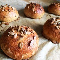 Celozrnné domácí bulky Muesli, Smoothie, Hamburger, Muffin, Passion, Bread, Breakfast, Blog, Morning Coffee