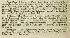 Trap Danmark, 2. udg. fra 1872. Adskiller sig i beskrivelsen af Bogø fra 1. udg. fra 1858 ved at fremhæve søfart som et af Bogøs erhverv, mens søfart slet ikke blev nævnt i 1858. Det nævnes også, at et sømandsselskab ejer et større skib (det drejer sig om A/S Bogø Søfartsforening, stiftet 1869, som ejede skonnerten BOGØ), og at der drives et større bundgarnfiskeri. Også det sidste er nyt i forhold til den tidligere beskrivelse. Telegrafstation på Bogø nævnes.