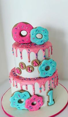 Candy Theme Birthday Party, 1st Birthday Party For Girls, First Birthday Party Themes, Donut Birthday Parties, Birthday Party Decorations, 3rd Birthday, Birthday Ideas, First Birthdays, 1 Year
