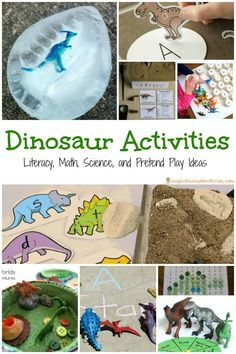 30 Dinosaur Activities for Kids includes literacy, math, science, and pretend play ideas