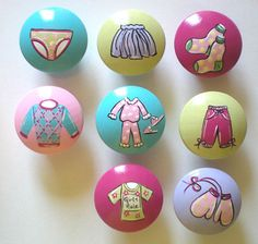 Kids Girls Wardrobe Drawer Knobs Nursery Cabinet by DoodlesDecor