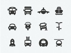 Dribbble - Transportation Icons by Scott Dunlap