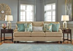 Living Room Design: Lochian Sofa by Ashley Furniture at Kensington Furniture. Perfect couch for a small living room!