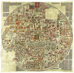 Ebstorf Map. And old medieval Mappa Mundi. T and O shape