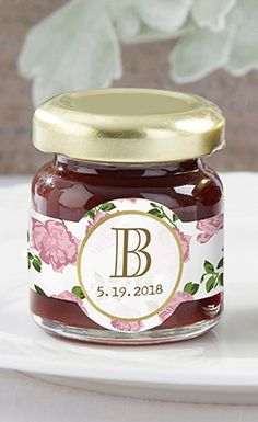Why not give some strawberry jam to guests so they can have their own tea party at home? You can even personalize the labels of these cute little jars to make them special for your wedding. Useful gifts like these are always favorites for guests. | Strawberry Jam | 6 Spring Wedding Favors Guests Will Love | My Wedding Favors