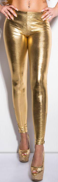 Gold Liquid Leggings