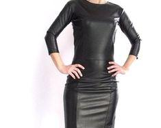 Etsy :: Jouw platform voor het kopen en verkopen van handgemaakte items Leather Jacket Dress, Leather Pants, Bodycon Dress, Trending Outfits, Unique Jewelry, Jackets, Clothes, Vintage, Etsy