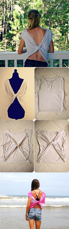 Chic Butterfly Twist-Back Tee T-shirt – DIY