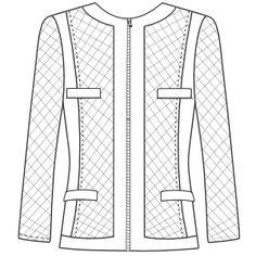 Patronaje industrial: patrones moldes ropa para marcas de nivel mundial Sacos 4700 DAMA Saco