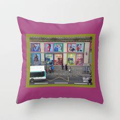 Love on the Street. Paris Throw Pillow by Susan in Paris - $20.00