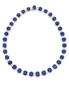 Platinum, Sapphire and Diamond Necklace - Sotheby's