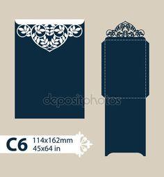 Descargar - Envolvente de felicitación de plantilla con el patrón calado tallado — Ilustración de stock #109255246