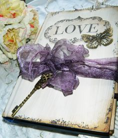 Wedding Guest Book in Rustic Barn Country Chic Plum. $97.00, via Etsy.