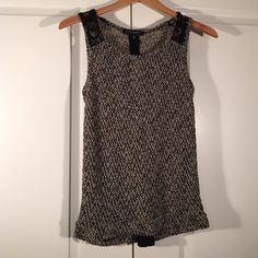 Green Envelope LA Top Sleeveless knit top with lace inlays. XS. Worn only once. Green Envelope Tops Blouses