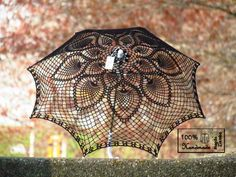 lace parasol - but wouldn't it be cool to do over a clear umbrella?
