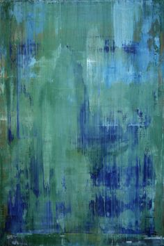 "Koen Lybaert; Oil 2013 Painting ""abstract N° 632 [emerald green] - SOLD [USA]"""