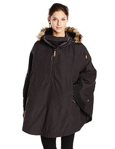 Fjallraven Women's Luhkka Cape, Dark Grey/Black, Small ** Read more reviews of the product by visiting the link on the image.
