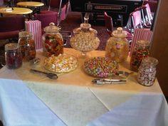 Mesas dulce en un evento