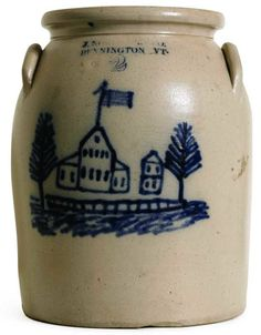 Salt glazed pottery from J. Norton Co., Bennington, Vermont