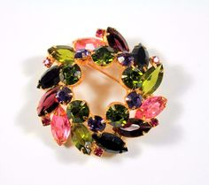 Vintage Juliana Fruit Salad Wreath Brooch Verified Estate Find! #Juliana
