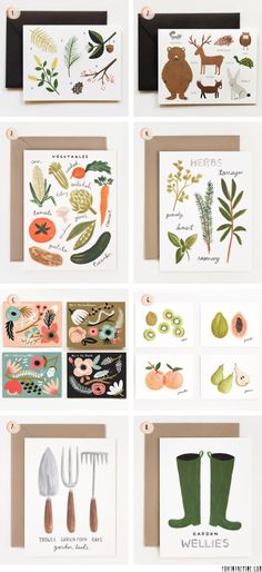 Garden and outdoor cards by Rifle Paper Co.   //   FOXINTHEPINE.COM
