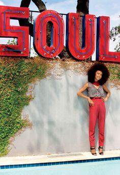 Esperanza Spalding in Elle Magazine