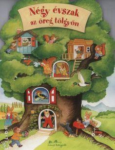 Négy évszak az öreg tölgyön (keménylapos, kukucskálós) Nye, Grinch, Seasons, Kids, Weather, Books, Home, Squirrels, Barn Owls
