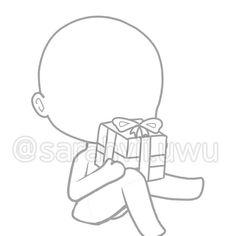 Drawing Body Poses, Drawing Skills, Kawaii Drawings, Cute Drawings, Chibi Body, I Love You Drawings, Anime Poses Reference, Anime Drawing Styles, Human Poses