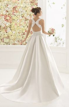 Featured Dress: Aire Barcelona; Wedding dress idea.