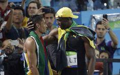Wayne Van Niekerk & Usain Bolt Rio 2016
