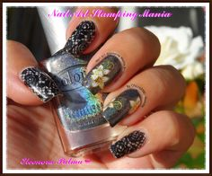 Nail Art Stamping Mania  Color Club Halo Hues Beyond With Pueen Plate And 3D Decals http://nailartstampingmania.blogspot.it/2014/08/color-club-halo-hues-beyond-3d-decals.html