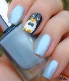 Penguin Nails  LOVE IT