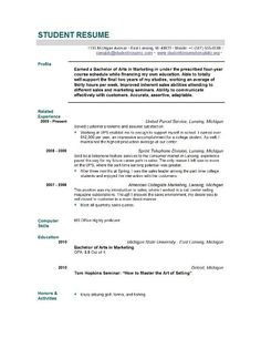 Resume Samples For Students Resume Examples For Year 9 Students  Pinterest  High School Resume .