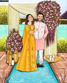 Sad Girl Drawing, Wedding Card Design Indian, Bengali Art, Wedding Caricature, Doodle People, Illustrated Wedding Invitations, Love Wallpaper Backgrounds, Indian Art Gallery, Pastel Balloons